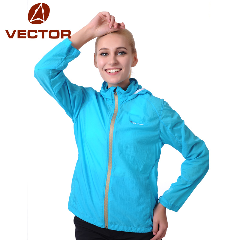 VECTOR Ultralight Waterproof Jackets Women Sun UV Protection Compressed Outdoor Coat Sport Camping Hiking Jackets 80002(China (Mainland))