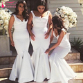 white African Mermaid Bridesmaid Dresses Off The Shoulder Wedding Guest Dresses Long elegant Brides Maid gowns