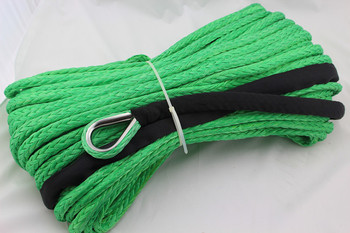 Free Shipping 13MM 40M 12 Strand extreme UHMWPE Off-Road Winch Rope With Thimble