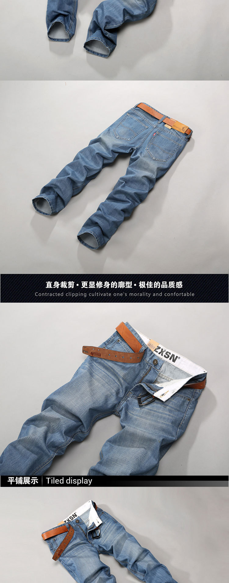 Летом ультратонкие краткий Мужские джинсы светло-синие джинсы хлопок прямо 100% джинсовые брюки k602