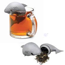 Hot Creative Silicone Shark Infuser Loose Tea Leaf Strainer Herbal Spice Filter Diffuser Tea Essential