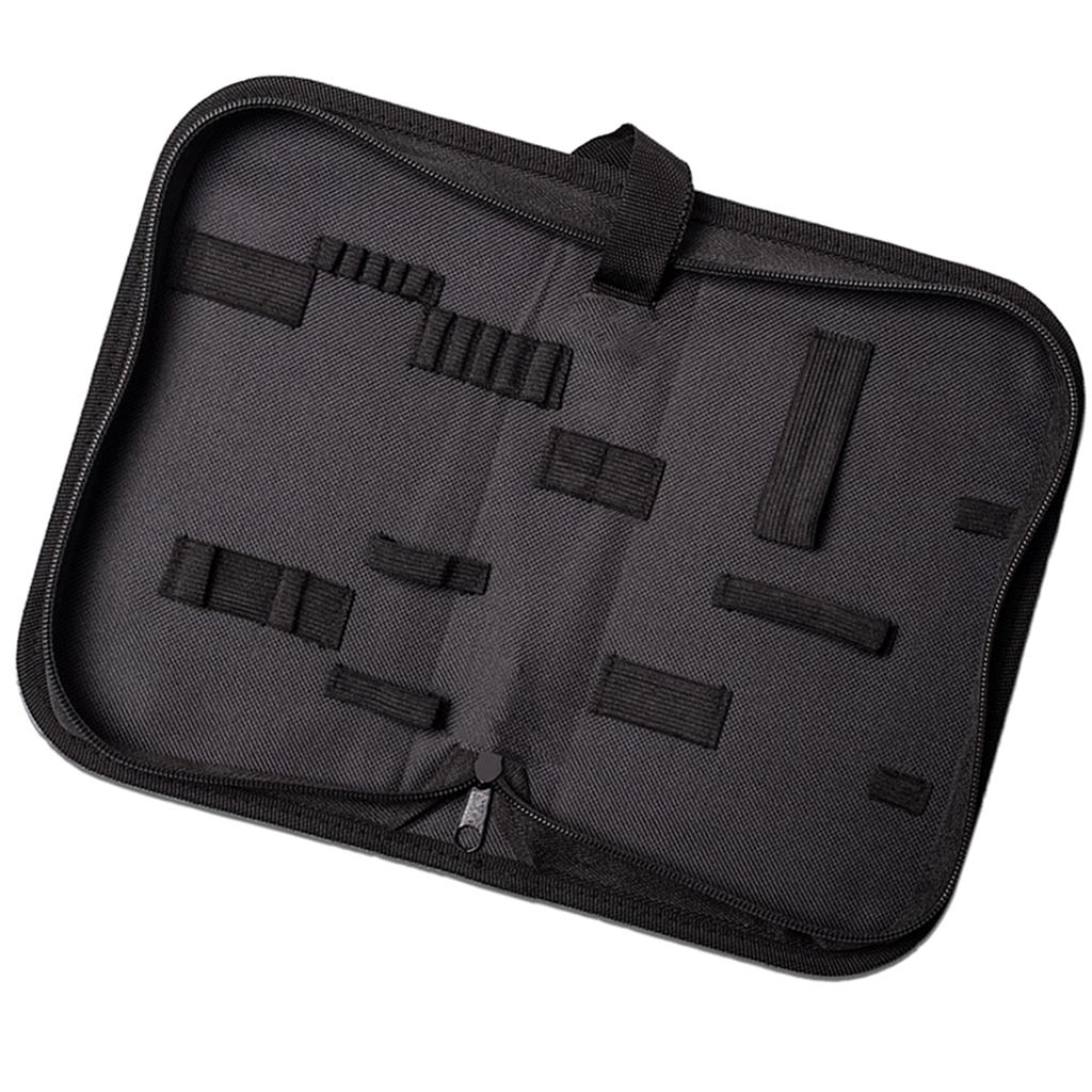 Black Canvas Watch Repair Tool Kit Multi-function Storage Bag Zipper Pouch S/M/L Size Portable Zip