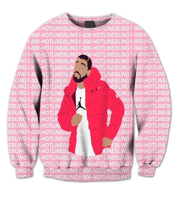 Реальный сша 3D сублимация печать v-образным вырезом свитер дрейк Ovo1-800 горячая ...