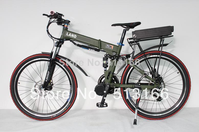 Cheap! 48V 800W Mid Drive Electric Bike Electric Bicycle Foldable Frame Ebike + 48V 20Ah Battery Full Suspension(China (Mainland))