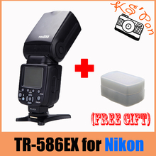 TRIOPO TR-586EX Wireless Flash TTL Speedlite For Nikon D750 D800 D7100 D7000 as YONGNUO YN-568EX Wt Free diffuser