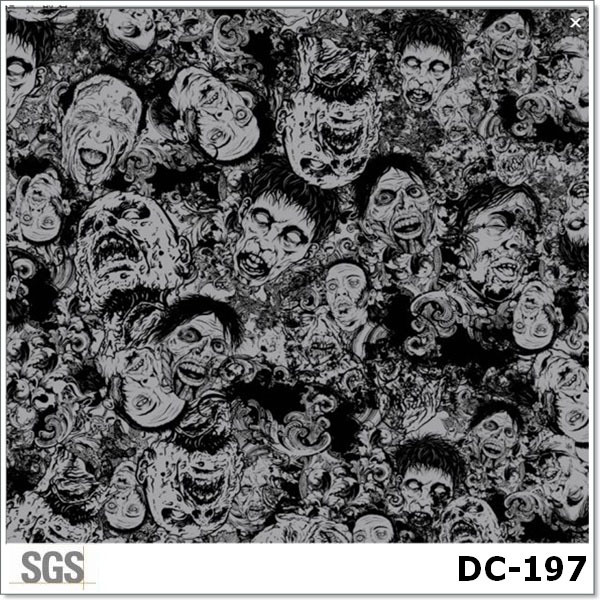 Hot Sale Skull and Flame Water Transfer Printing Film Item NO. DC-197(China (Mainland))