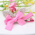 New Princess Crown Hairpins Baby Hair Accessories Resin Rhinestone Gliter Pearls Bowknot Barrette Party Cute Baby