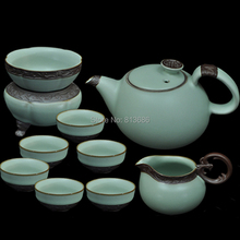 ceramic tea set ruyao gaiwan teapot and cup set kung fu tea set home drinkware free shipping