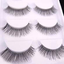 5 Pairs Pro Natural Long Sparse Cross False Eyelashes Eye Lashes Makeup Extension Tools(China (Mainland))