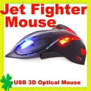 5pcs/lot Aircraft Jet Fighter 3D USB Optical Mouse Mice Laptop Freeshipping(China (Mainland))