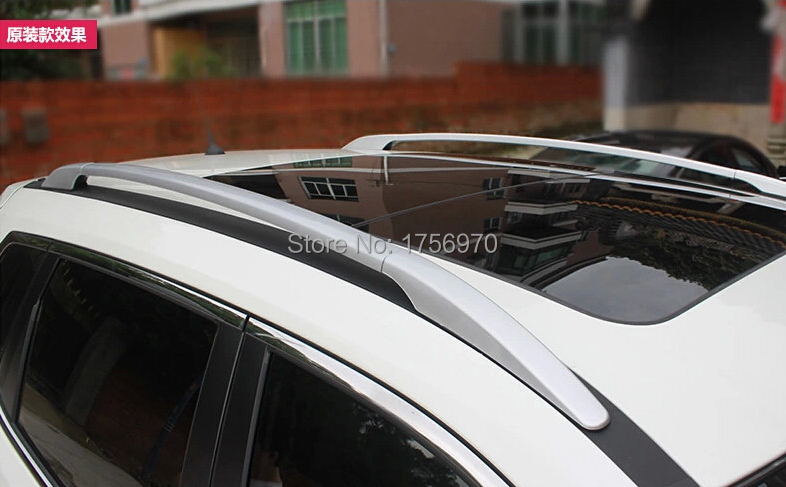 Фотография Aluminium Alloy Silver Roof Rack Side Rails Bars For nissan Rogue 2014 2015 / X-trail 2014 2015