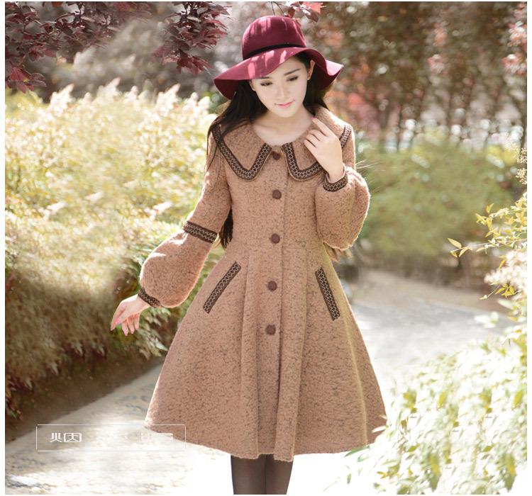 DEMON STYLE 2014 Winter new elegant slim woolen coats,womens outerwear coatОдежда и ак�е��уары<br><br><br>Aliexpress