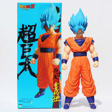 Buy 2017 New 42cm Big Size Figure Dragon Ball Super Saiyan Son Goku Blue Hair Kakarotto PVC Action Model Figure Japanese Anime WX162 for $19.30 in AliExpress store