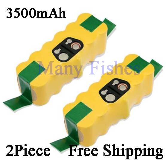 Sales promotion! 2 Piece 14.4V 3500mAh Brand new rechargeable battery for irobot roomba Vacuum Cleaner for 500 550 560 780(China (Mainland))