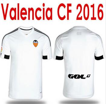 2015/2016 season thai quality shirts valencia white home jerseys 15/16 JONAS EVER BANEGA CF Valencia Jersey Away Orange Football(China (Mainland))