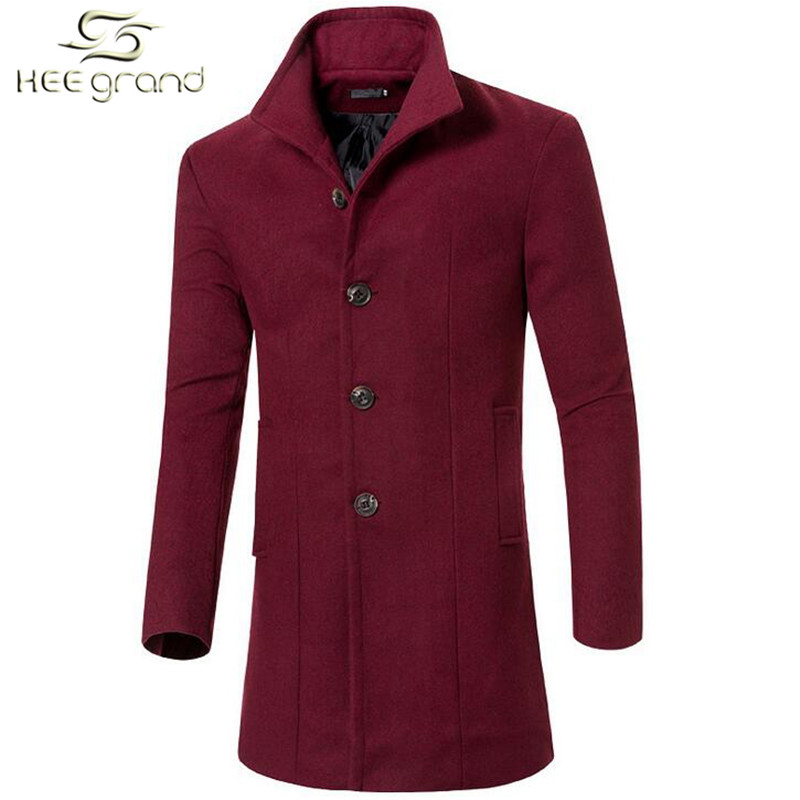 Men's Wool Coat Hot Sale Fashion Autumn Winter Slim Stand Collar Warm Casual Wool Outdoor Jacket M-3XL Size 5 Colors MWN207(China (Mainland))