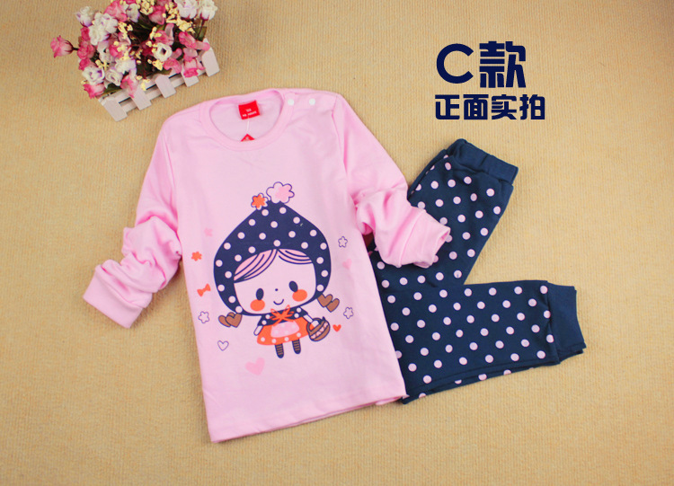 ZF-C, LITTLE GIRL, 5sets/lot, children pajamas, 100% Cotton long sleeve clothing sets, sleepwear for 2-6 year.<br><br>Aliexpress