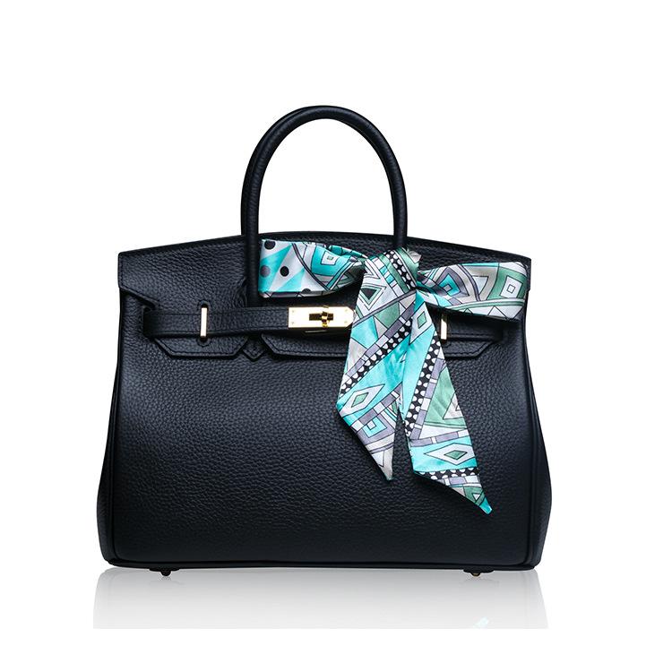 Фотография 100% Cowhide Real Leather Bag Platinum Lock Bags Handbags Women Famous Brands Genuine Leather Tote Shoulder Crossbody Bags