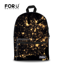 Supreme Multicolor Women Canvas Backpack Stylish Galaxy Star Universe Space Backpack Girls School Backbag Mochila Feminina(China (Mainland))