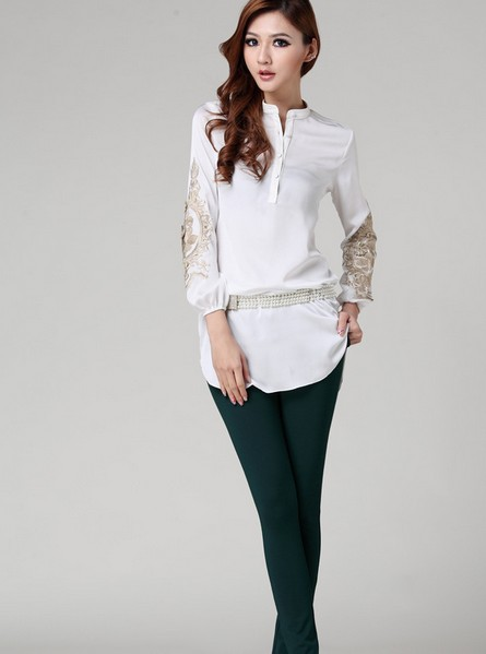 Women'S Long Blouses | Fashion Ql