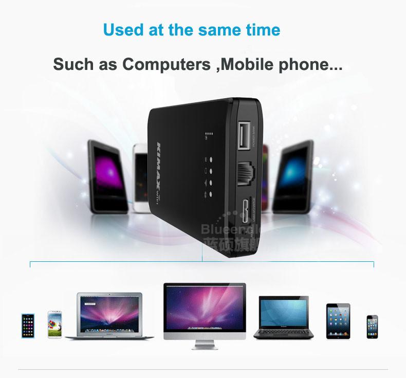 ถูก ไร้สาย3กรัมWIFI routerและธนาคารอำนาจhddการจัดเก็บกรณีHDD E Nclosure USB 3.0 SATA I, II IIIไร้สายHDD SSDสิ่งที่ส่งมา