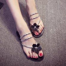 Pipe Strap Women Flower Flats Flip Flops Sandals Summer Slingbacks Cool Slides Basic Lady Sandal Shoes Calzado Mujer