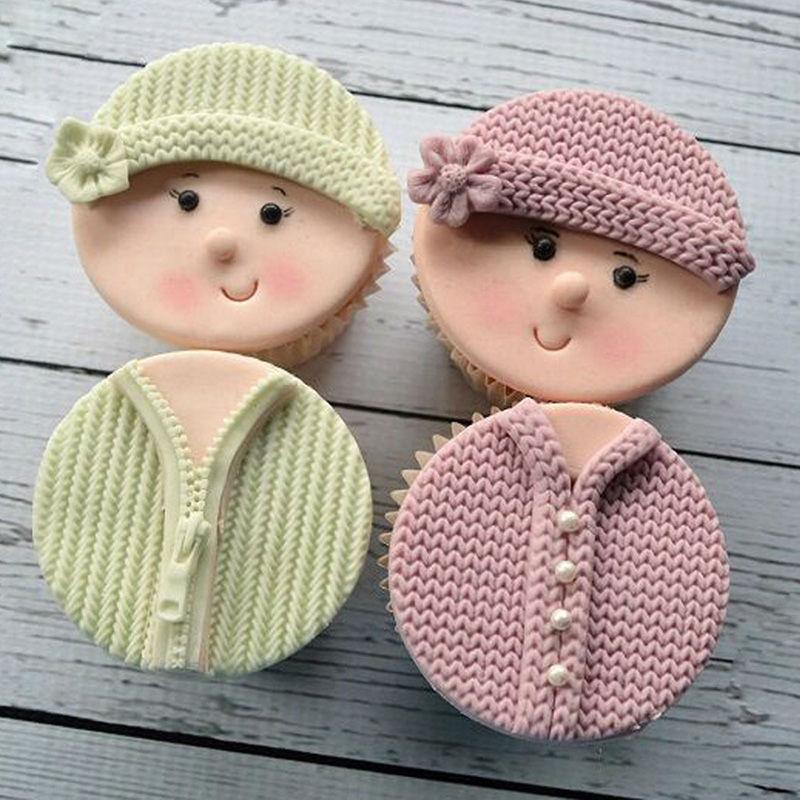 Knitting Cake Mould : Pc silicone knitting cake mould baby fondant mold lace