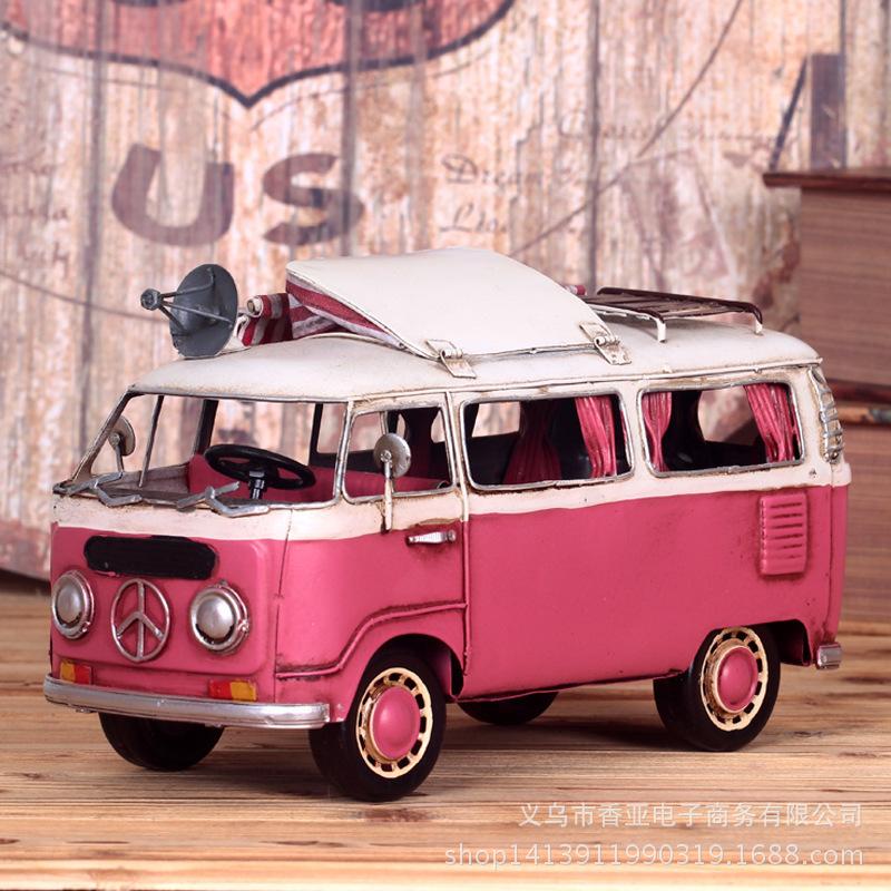 Pink retro trend handmade metal car model simulation of metal crafts ornaments wholesale(China (Mainland))