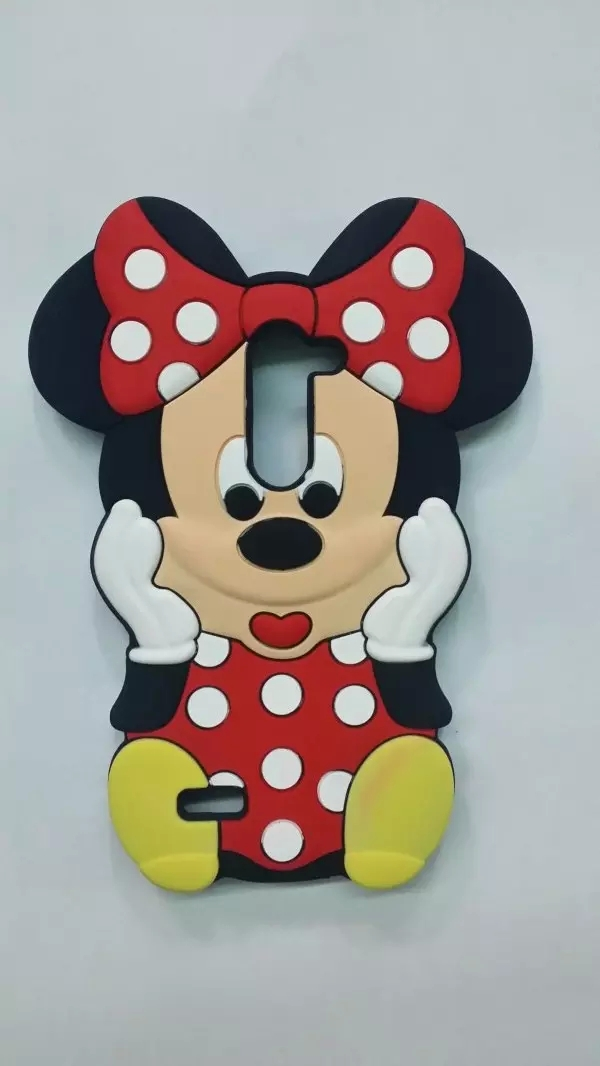 3D Cute Lovely Minnie Mouse Soft Silicone Cellphone Moblie phone Rubber Case Back Cover For LG G2 Mini G2mini D618 D620(China (Mainland))