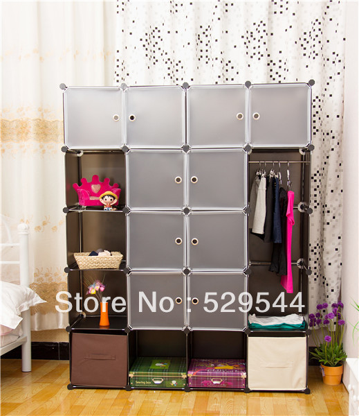 On Sale Wholesale DIY Wardrobe armoire Jewelry armoire Schrank Drawer chest End table Garderobe  1set/lots