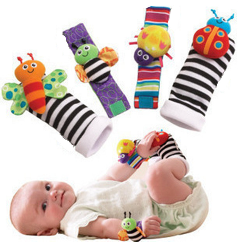 Baby Rattle Toys : Baby rattle wrist foot finder small soft boy toy for