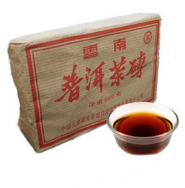 Free shipping Promotion! 2002YR 250g Slimming Tea Brick puer tea old ripe pu erh tea health care loose weight teas(China (Mainland))