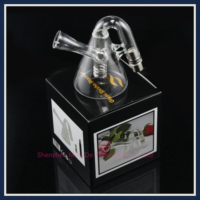 100% Original Glass Shisha Atomizer Clearomizer Pyrex Glass Hookah Wax Water Pipe Teapot Style for 510 eGo Battery E Cigarette(China (Mainland))
