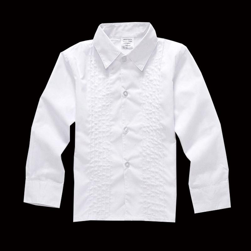 blusas 2016 Boys White shirt Long sleeve Turndown collar Shirts Baby clothes Kids Blouses 2 to 8 years(China (Mainland))