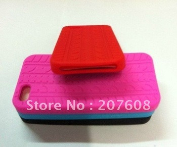 Tyre tire Silicon Case for iPhone 5 5G 227pcs/lot