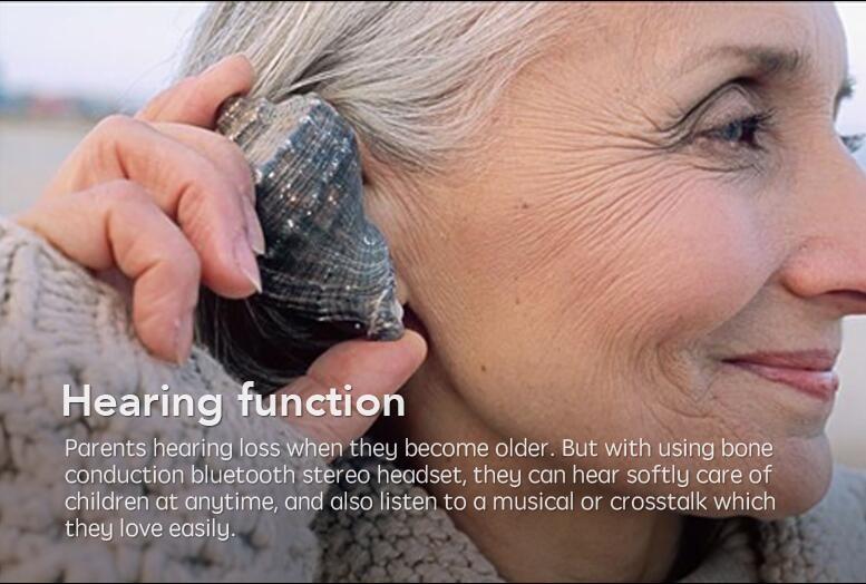 Bone Conduction Wireless Stereo Headset Sport Bluetooth Neck-strap Earphone Headphones Handsfree For Running SmartPhone black