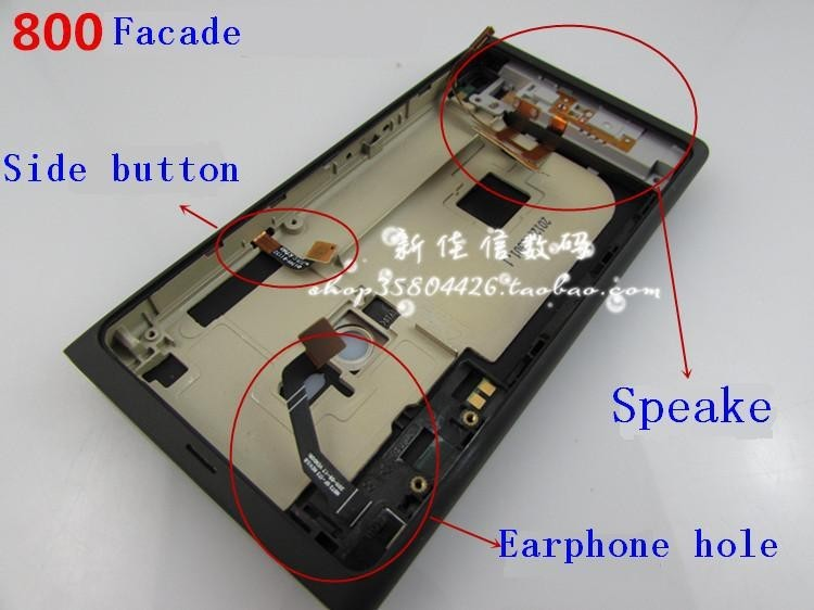 Mobile phone new full Housing Cover For Nokia N800 Battery Door Back Cover+Sim Card Tray+USB Door Free Shipping