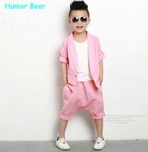 Humor Bear  boy clothes children clothing set,kids clothing,baby wear,sport suit,kid coat +vest + pants set 3 pcs(China (Mainland))