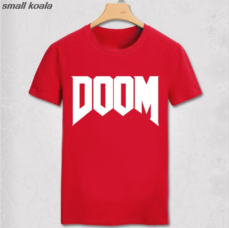 summer new brand fashion Doom T-shirt Time Great Video Game Unoffical Mens 100% Cotton man T Shirt