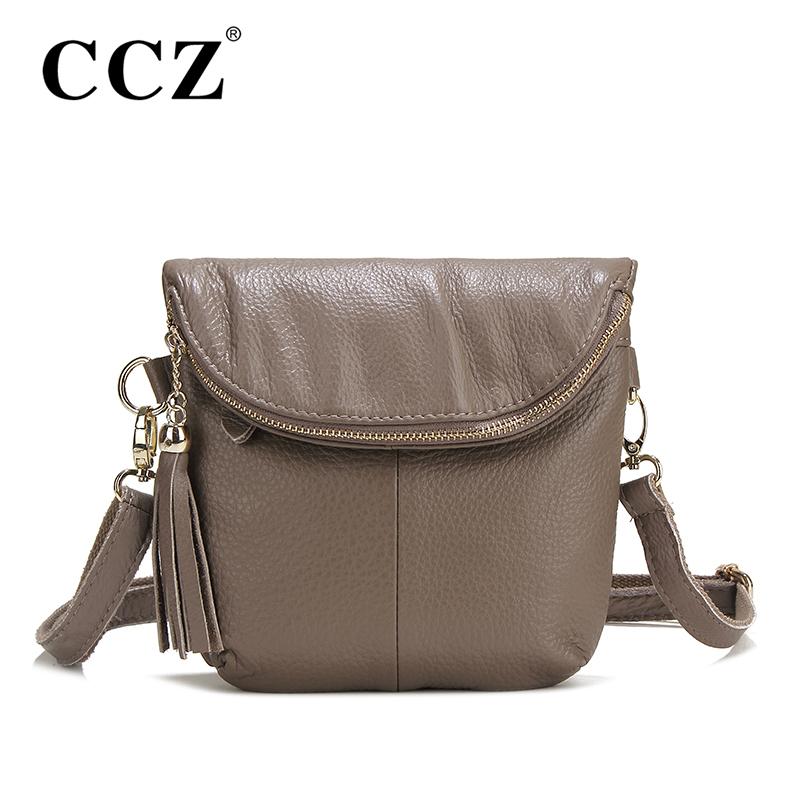 CCZ Cowhide Crossbody Bag Women Messenger Bags Genuine Leather Lady Bag Famous Brand Women's Shoulder Bags bolsa feminina SL088F(China (Mainland))