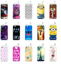 Mobile Phone Case Retail 1pc Pink Owl Minions Hybrid Design Protective White Hard Case Cover For iphone 6 Free Shipping