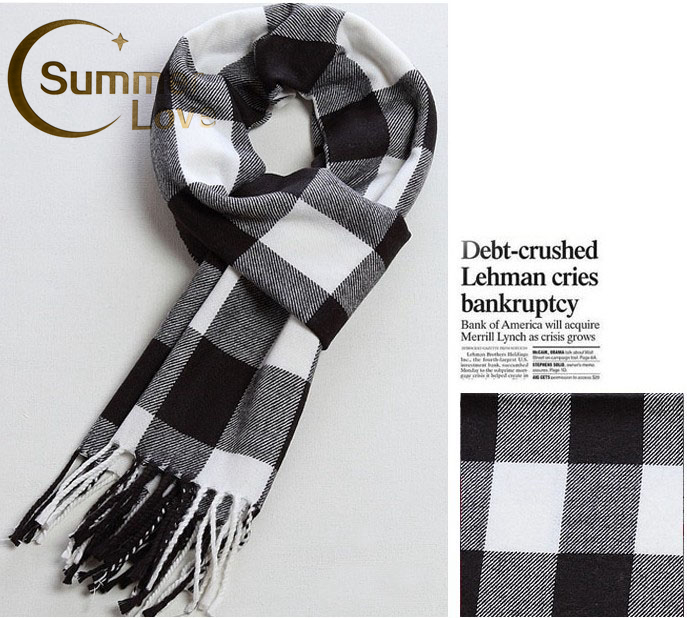 2016 Winter Cotton Scarf For Men And Women 175*32CM Warm Scarves Nice Bandana Shawl Plaid Women's Scarves Shawls Stoles Cachecol(China (Mainland))