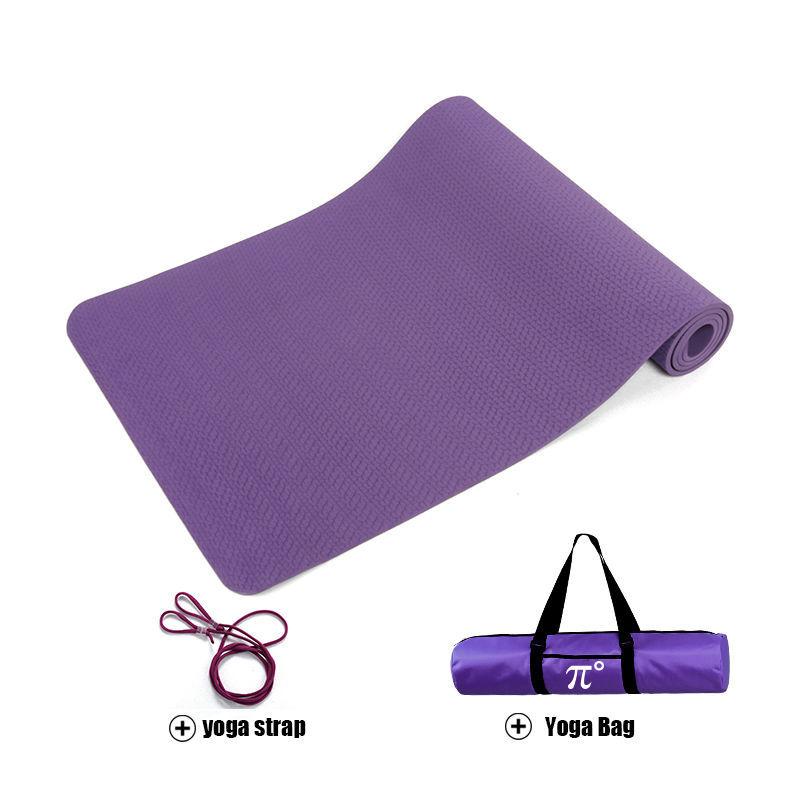 Pido 183 61cm 6mm Yoga Mat Tpe Slip Resistant Exercise Mat