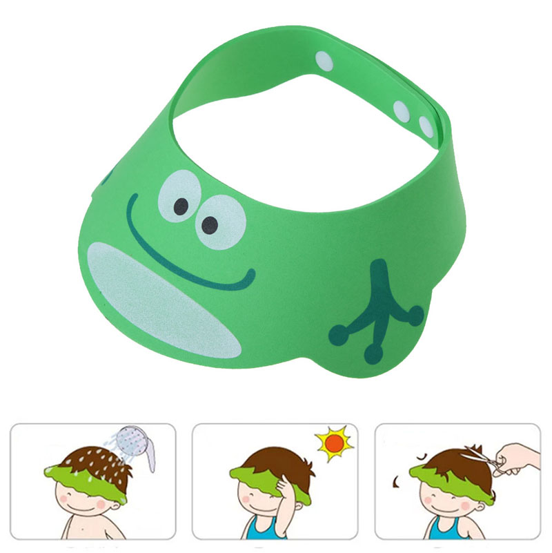 Adjustable Baby Shower Cap Baby Adjust Shampoo Shower Bathing Bath Protect Soft Cap Baby Shower Accessory(China (Mainland))