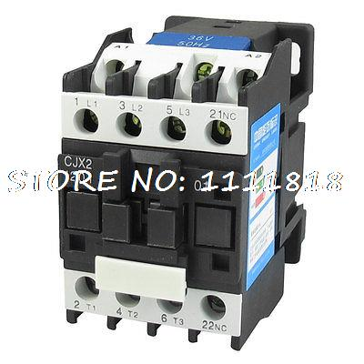 660V 20A 3 Phase 3P N/C AC Contactor DIN Rail Mount 36V Coil CJX2-1201<br><br>Aliexpress