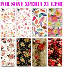 Красочные блестящие роуз цветы пиона фон телефон чехол для Sony Xperia Z1 L39H C6902 C6903 C6906 твердый переплет кожа оболочки