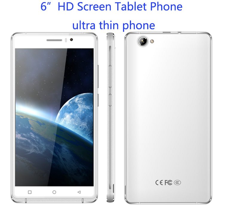 "unlocked cell phones Original o2 Android 5.1 MTK6580 ultra slim phone mobile 6"" tablet Phone Smartphone 3G WCDMA Dual sim GPS(China (Mainland))"