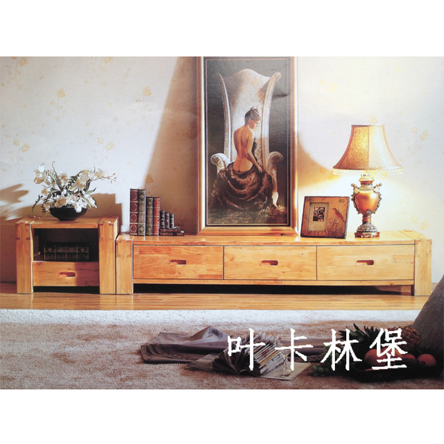 All solid wood furniture kashiwagi tv cabinet solid wood tv cabinet cedar wood chinese style cabinet