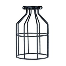 Loft Black Nordic Industrial Lamp Guard Bulb Birdcage Cover Vintage Lights Iron Cage Lampshade Light Guard Lighting Supplies(China (Mainland))