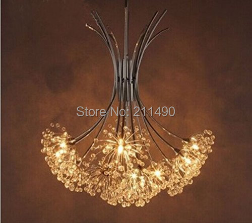 Modern Large Crystal Chandelier Lustre With 10 Lights Chrome Finish(China (Mainland))
